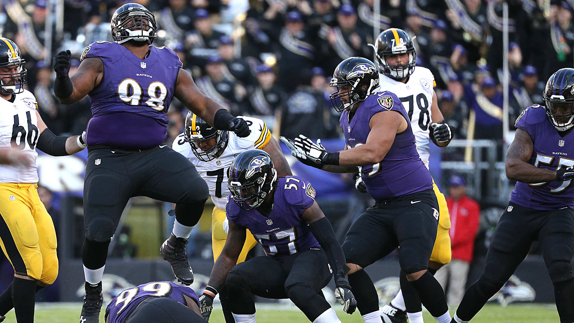 Ravens' defensive front looks to wreak havoc on Steelers ... again