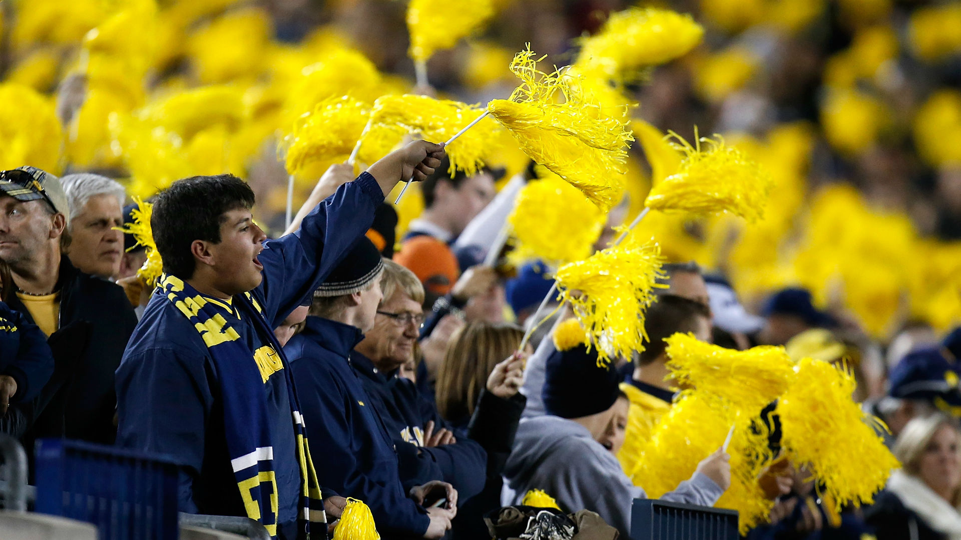 Michigan fans at the Big House