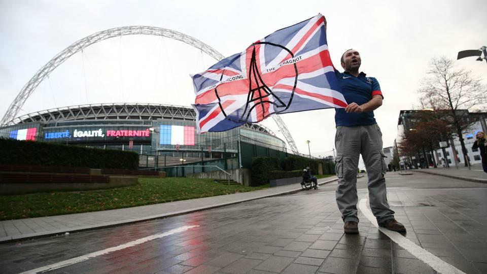 Fan at Wembley Stadium