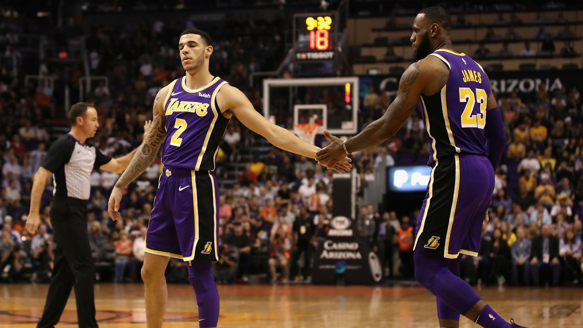 Los Angeles Lakers duo LeBron James and Lonzo Ball