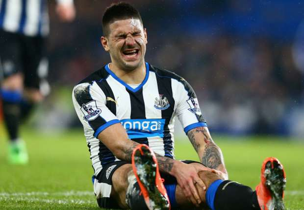 Blow for Newcastle as Mitrovic suffers knee injury