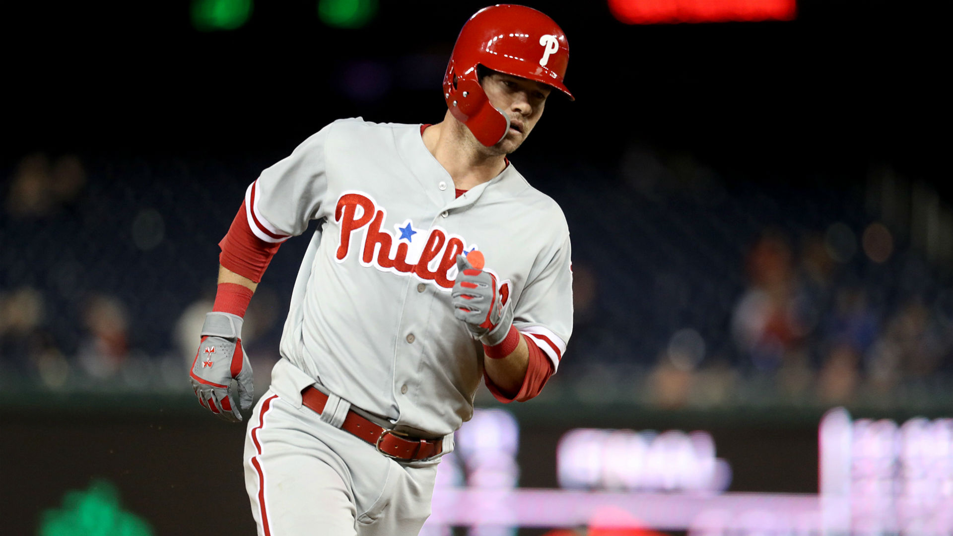 Watch: Phils' Andrew Knapp crushes walkoff, upper-deck home run in 13th