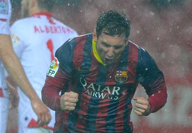 Lionel Messi war mit seinen beiden Toren mitentscheidender Faktor für Barca gegen Sevilla