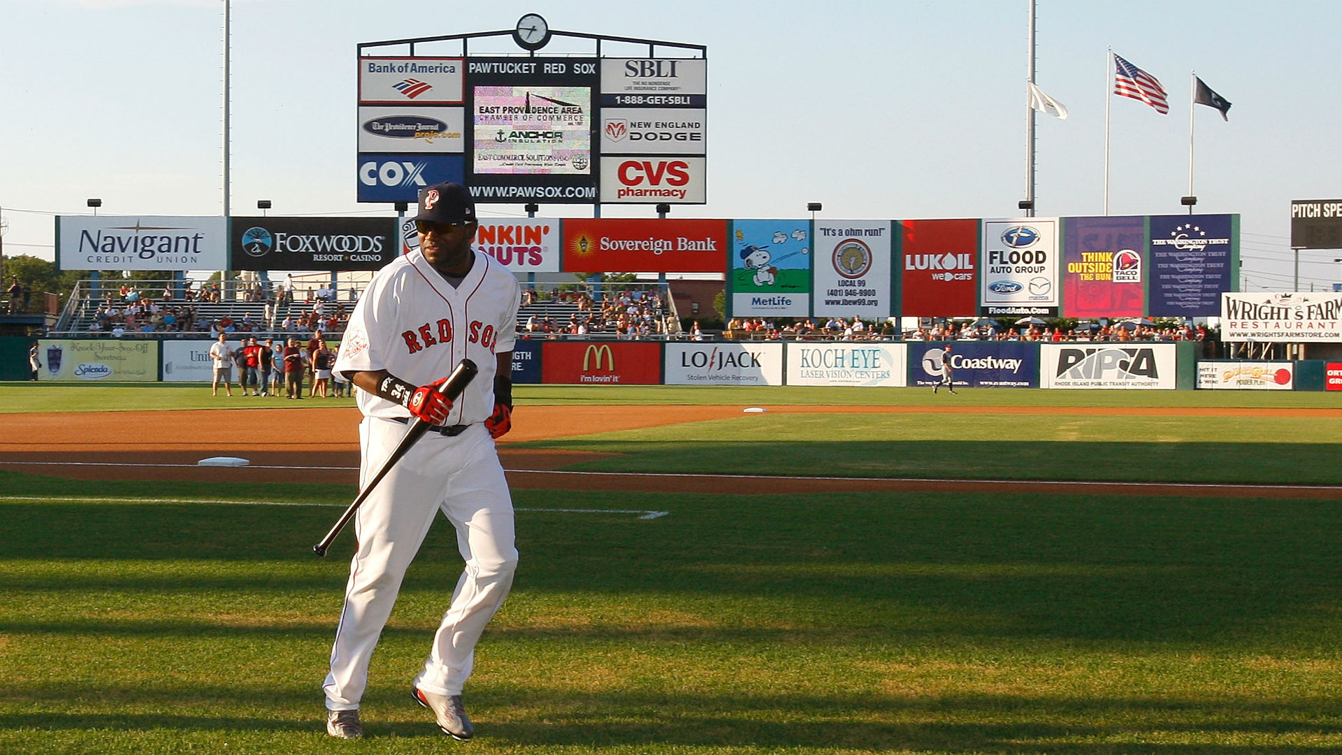 David Ortiz at McCoy Stadium in 2008
