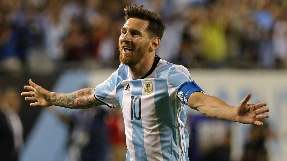 Lionel Messis Hat Trick Inspire Argentina Getty Images
