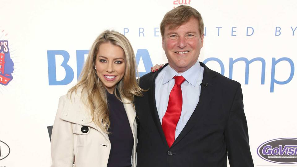 TV reporter Lindsay McCormick, left, and NFL agent Leigh Steinberg