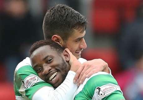 Dembele hits 24-minute Celtic hat-trick