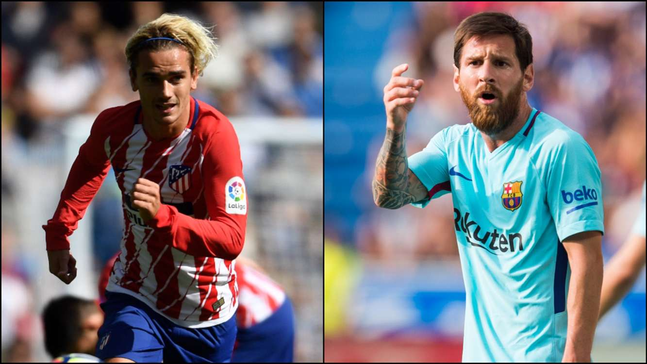 Atletico Madrid v Barcelona: Griezmann, Messi and a remarkable shared shooting stat