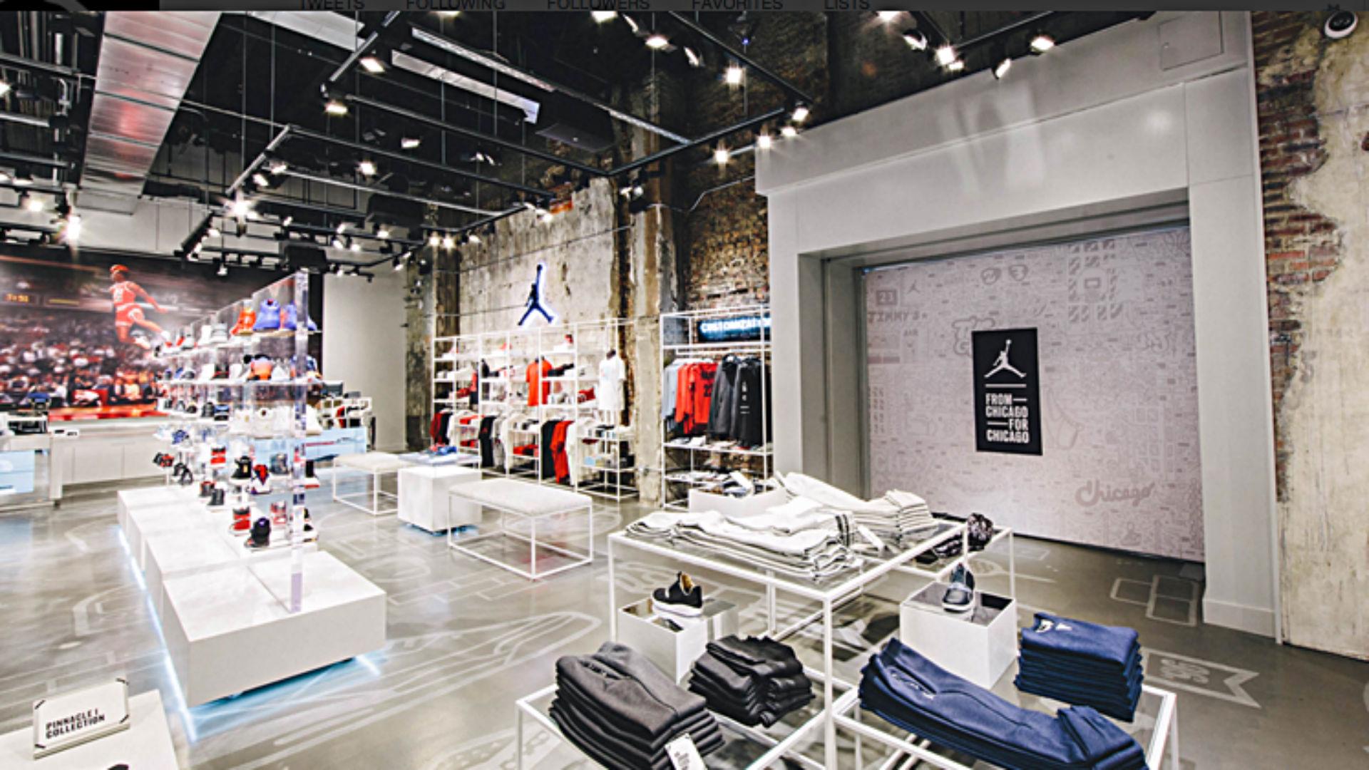 New jordan brand store opens in chicago nba sporting news for Nike jordan shop