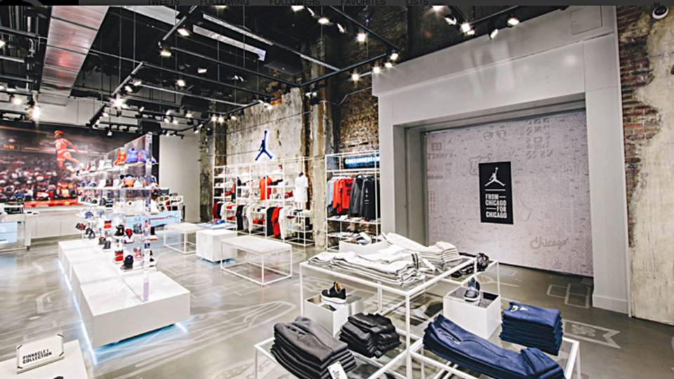 new jordan brand store opens in chicago nba sporting news