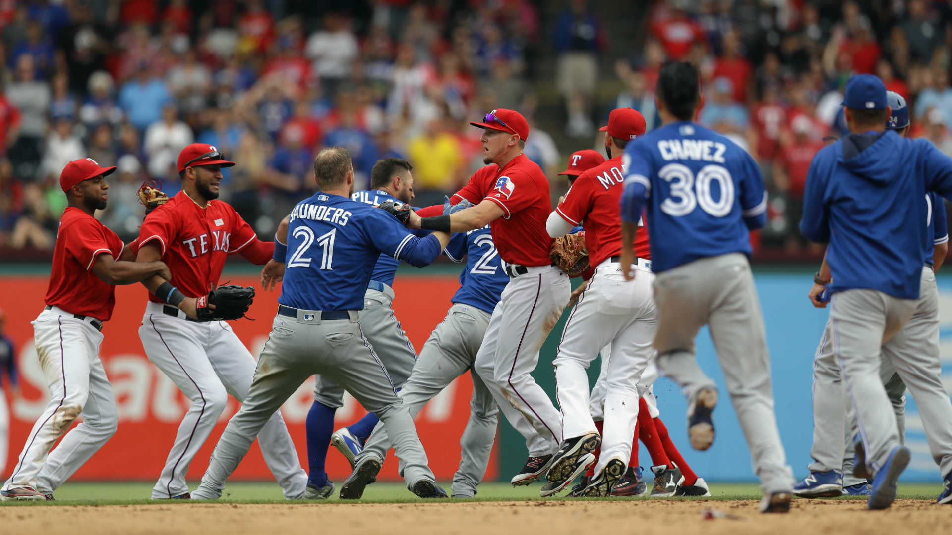 rougned odor suspended eight games for punching jose bautista, reports say