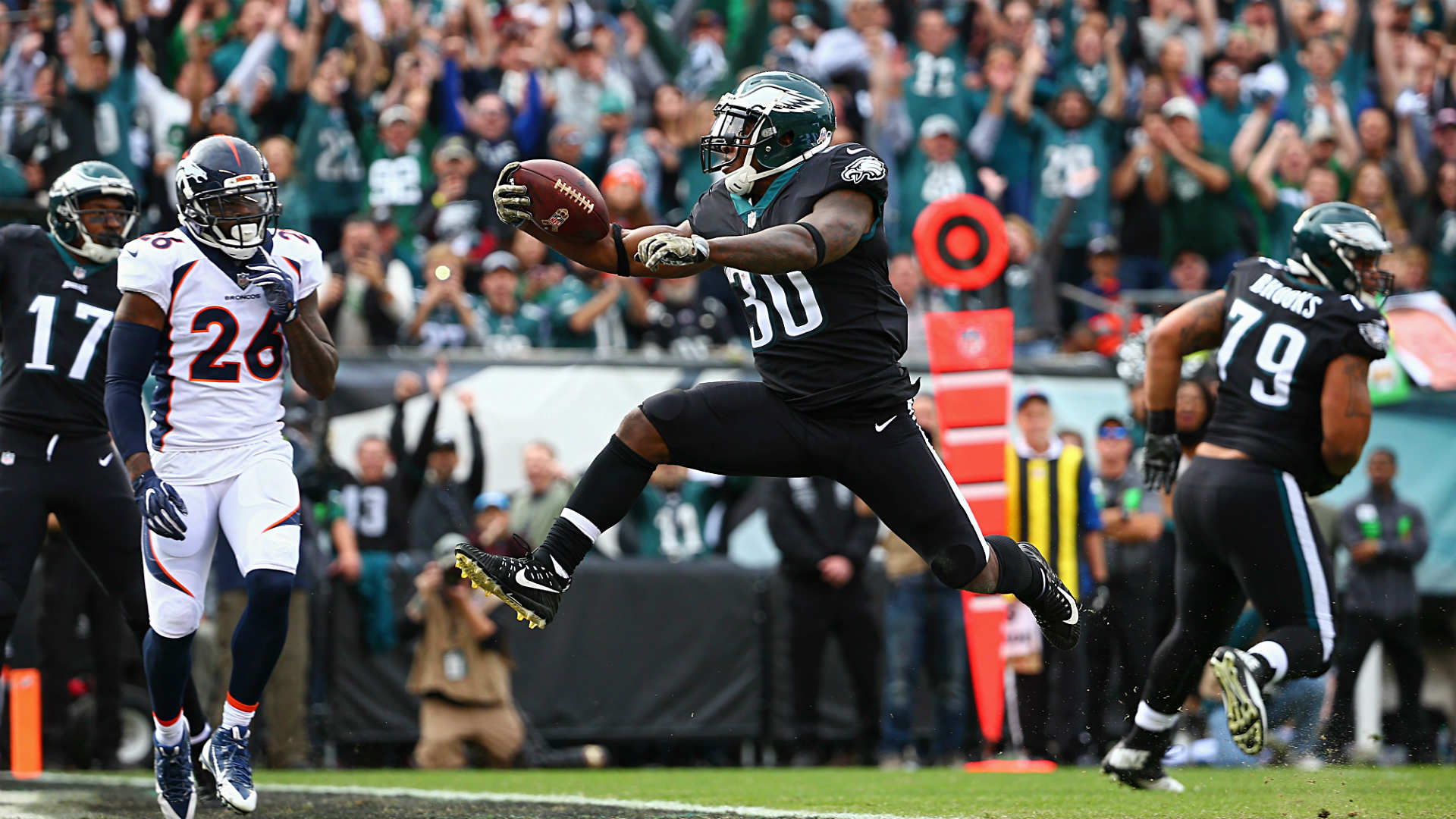 Jay Ajayi runs for 46-yard TD on Philadelphia Eagles debut