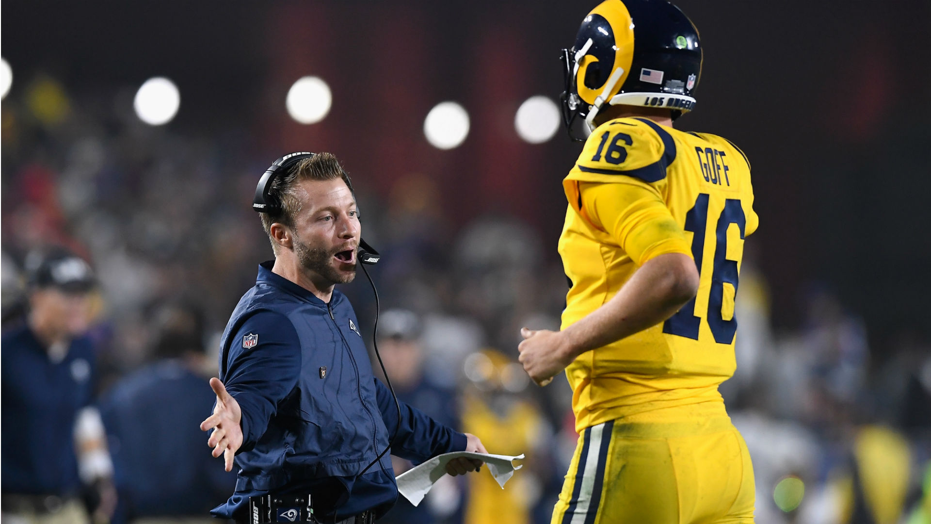 Rams coach Sean McVay: 'I might need a couple of beverages to relax'