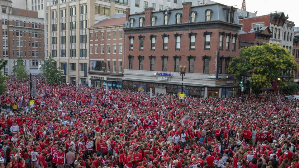965ef9c246c Watch  Capitals go crazy at Stanley Cup parade