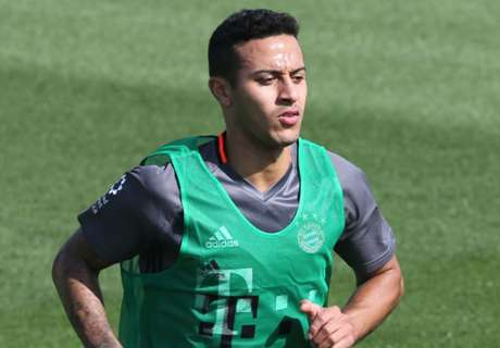 Thiago back in Bayern training