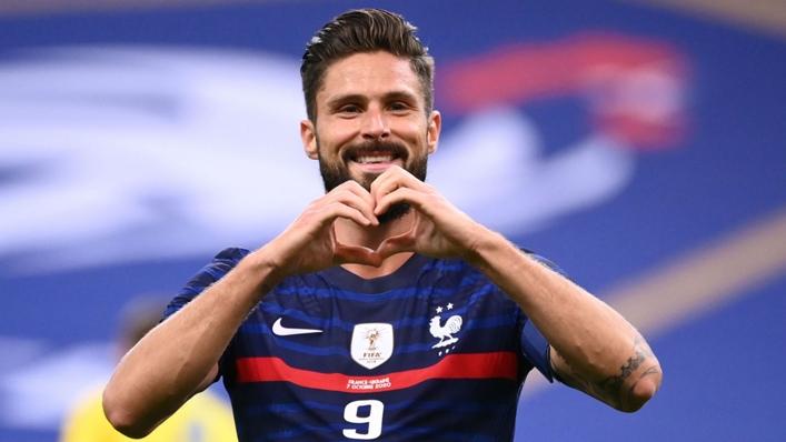 French international Olivier Giroud's attitude has impressed Thomas Tuchel