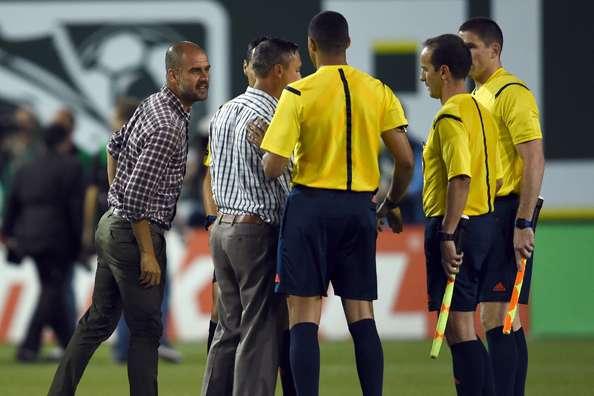 Pep Guardiola niega el saludo a Caleb Porter, entrenador del combinado de la MLS