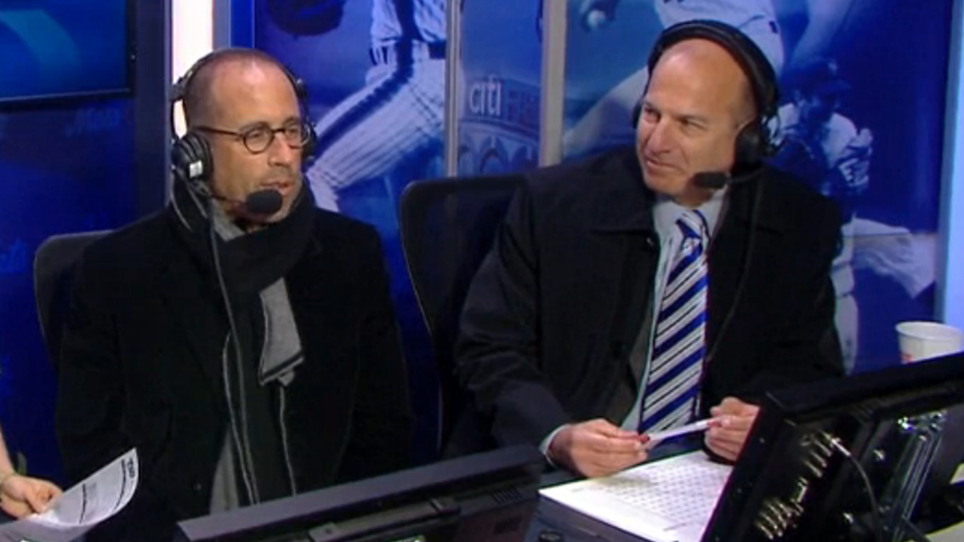 Jerry Seinfeld joins Mets broadcast