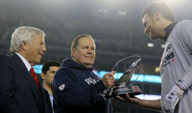 Robert Kraft, Bill Belichick, Tom Brady