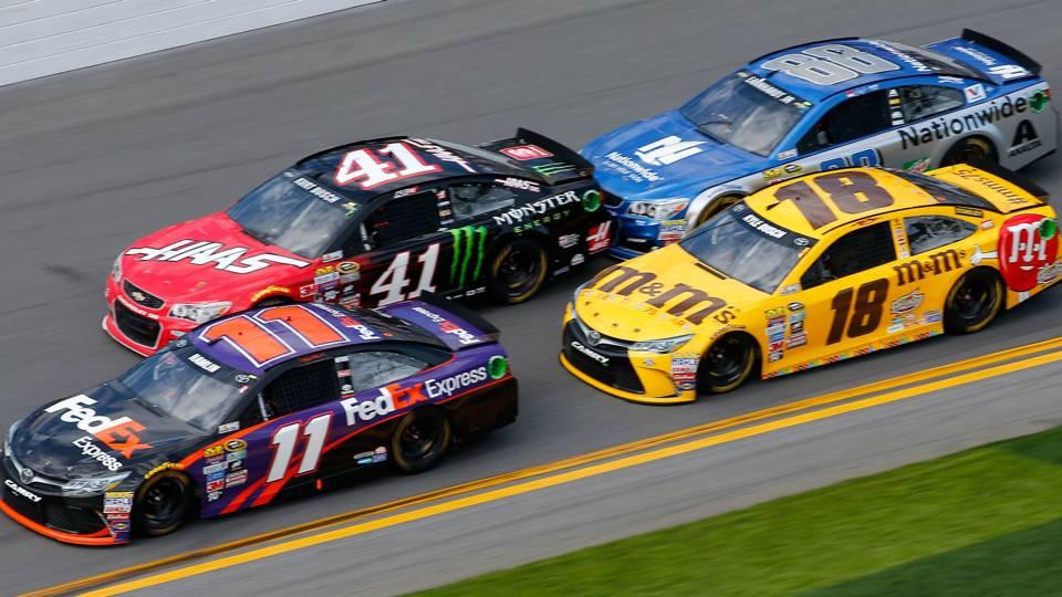 Denny Hamlin, Kurt Busch, Kyle Busch, Dale Earnhardt Jr.