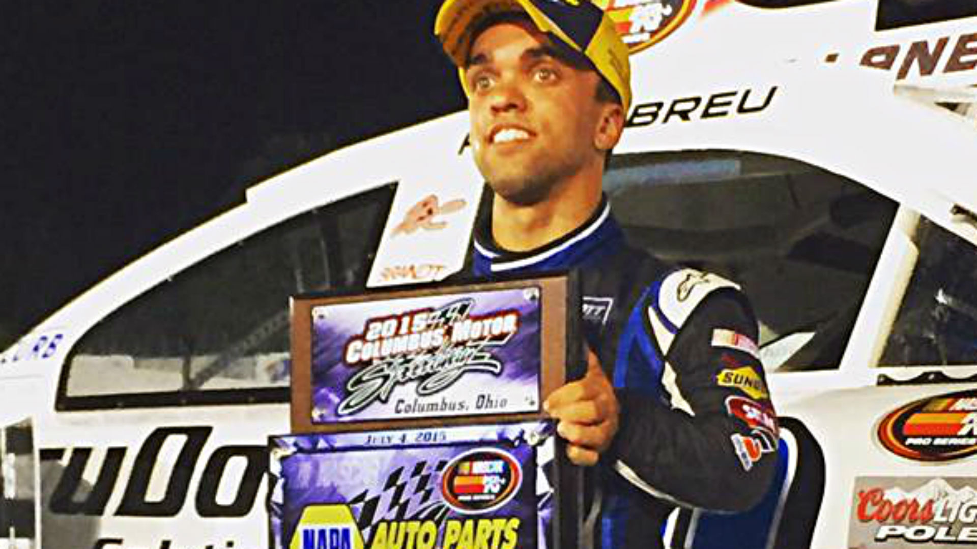 Rico Abreu scores first win in NASCAR's regional racing
