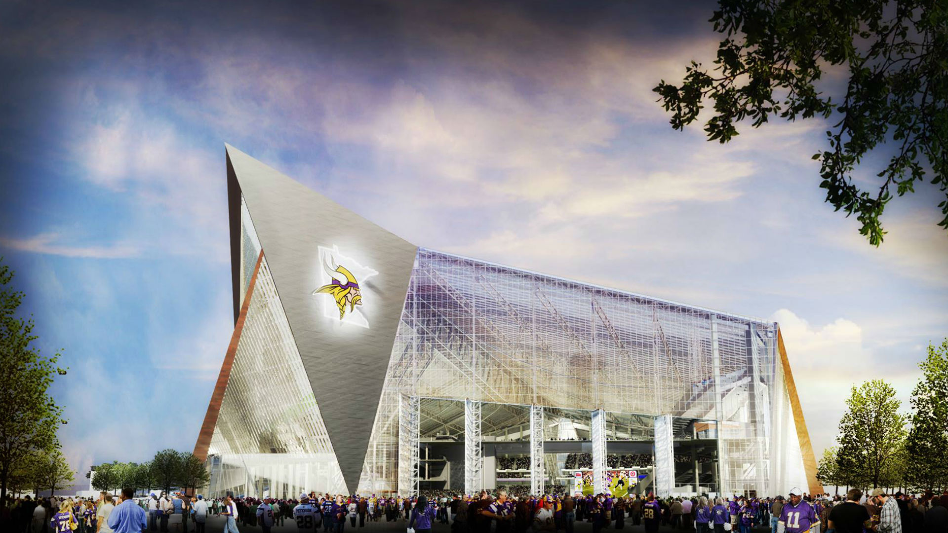 Rendering of new Vikings stadium