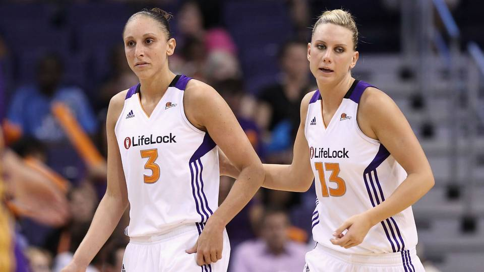 Diana Taurasi and Penny Taylor