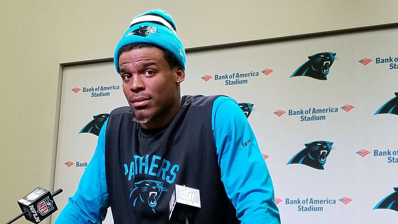 Cam Newton: It's funny to be questioned about pass routes by 'a female' reporter