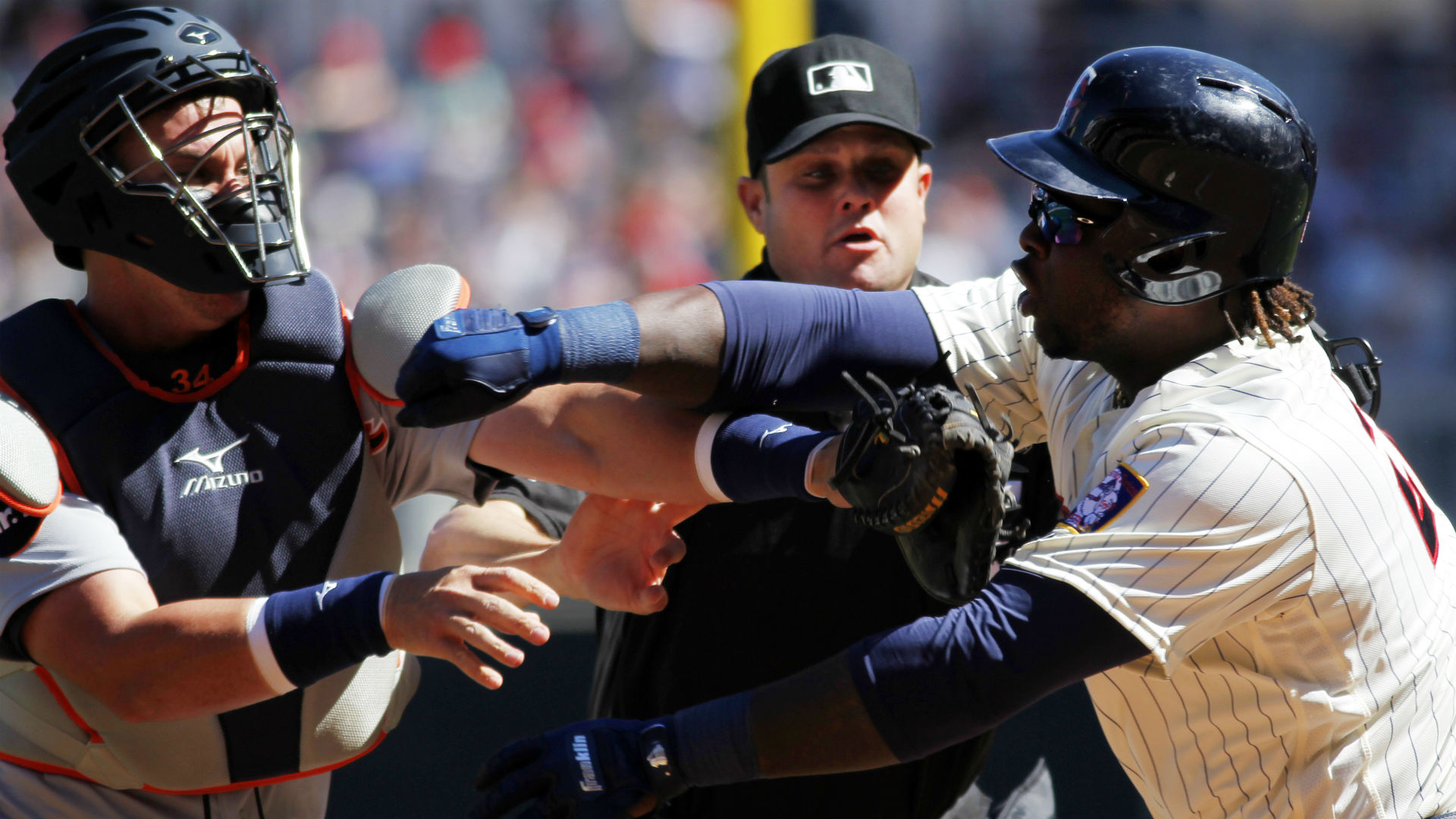 Tigers OF Jones says he's feeling OK after being hit in face