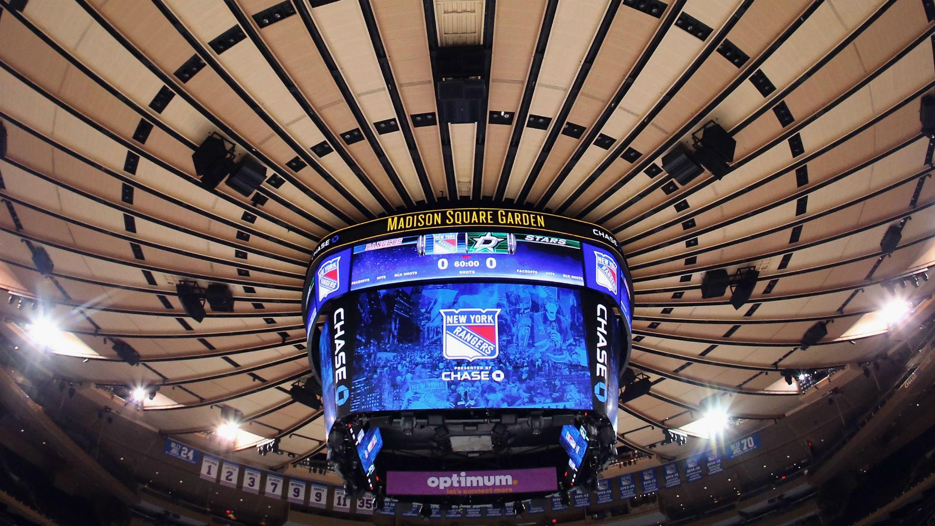 Rangers At Madison Square Garden