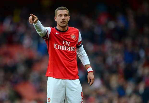 Lukas Podolski no atraviesa por su mejor momento en el Arsenal