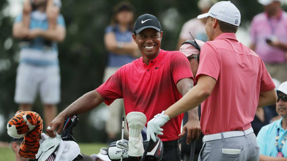 Tiger Woods Jordan Spieth - cropped
