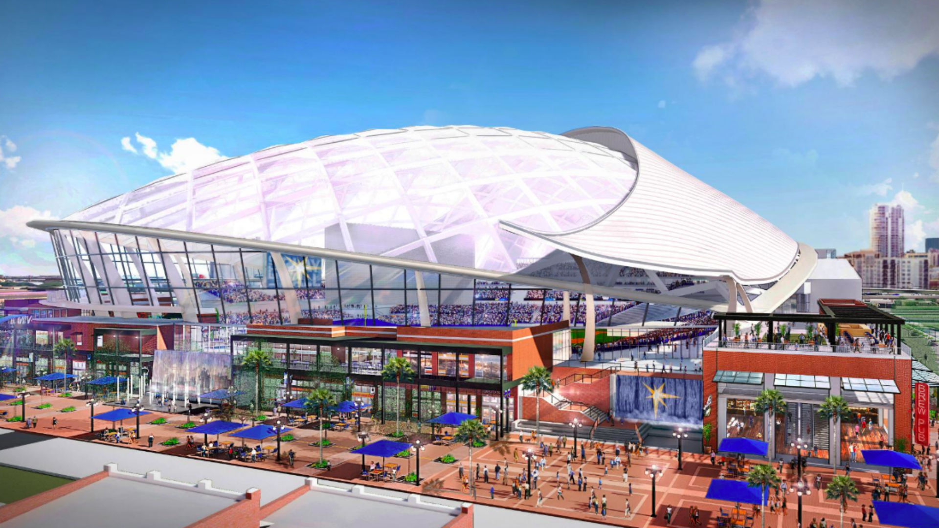 Rays unveil plans for new domed stadium in Tampa | MLB ...
