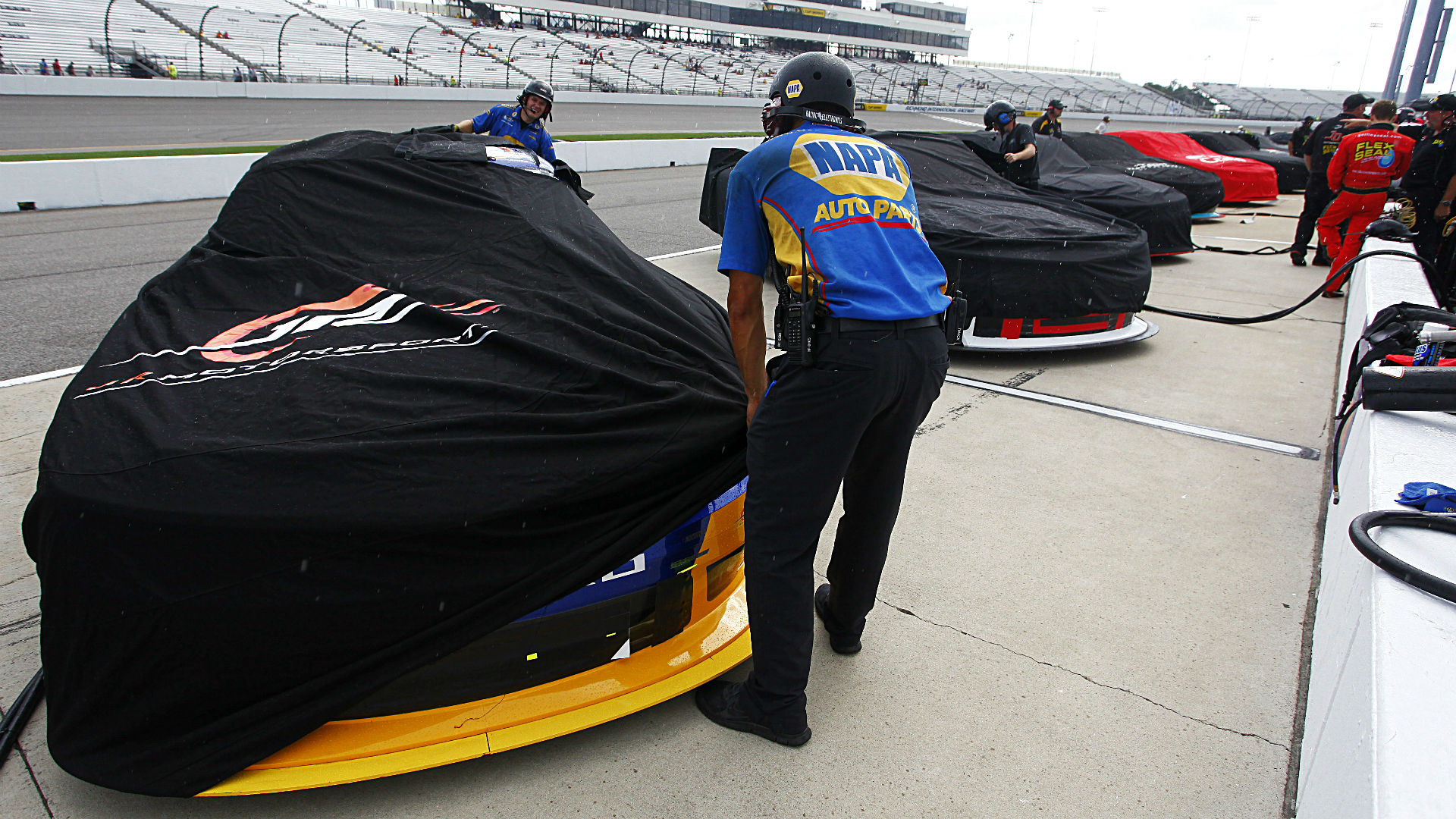 Toyota Owners 400 weather report: Drivers can expect rain Saturday