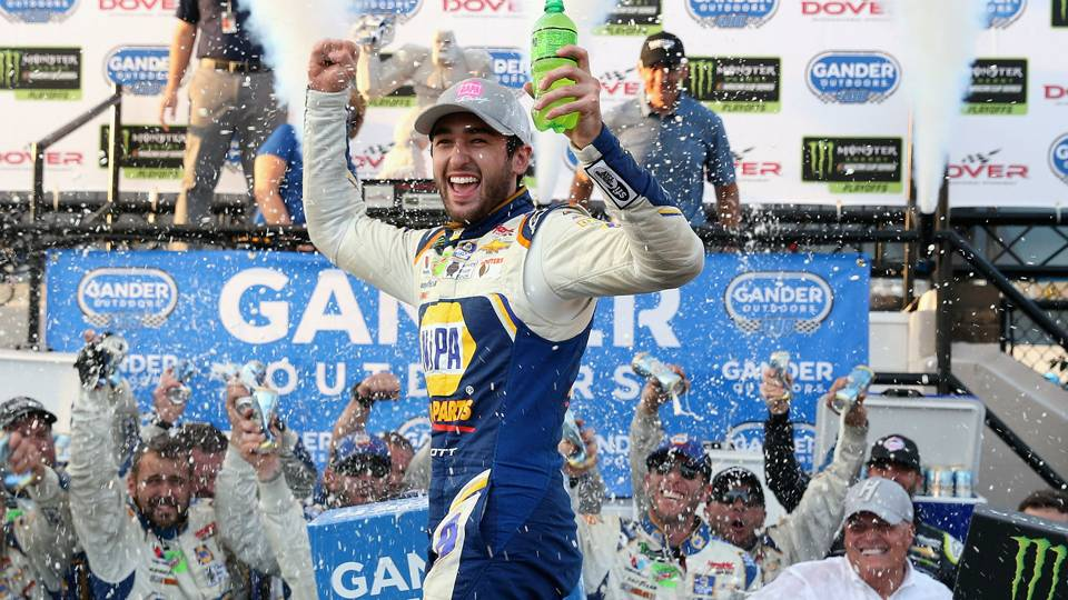 NASCAR results at Dover: Chase Elliott seizes control in overtime as other playoff drivers falter