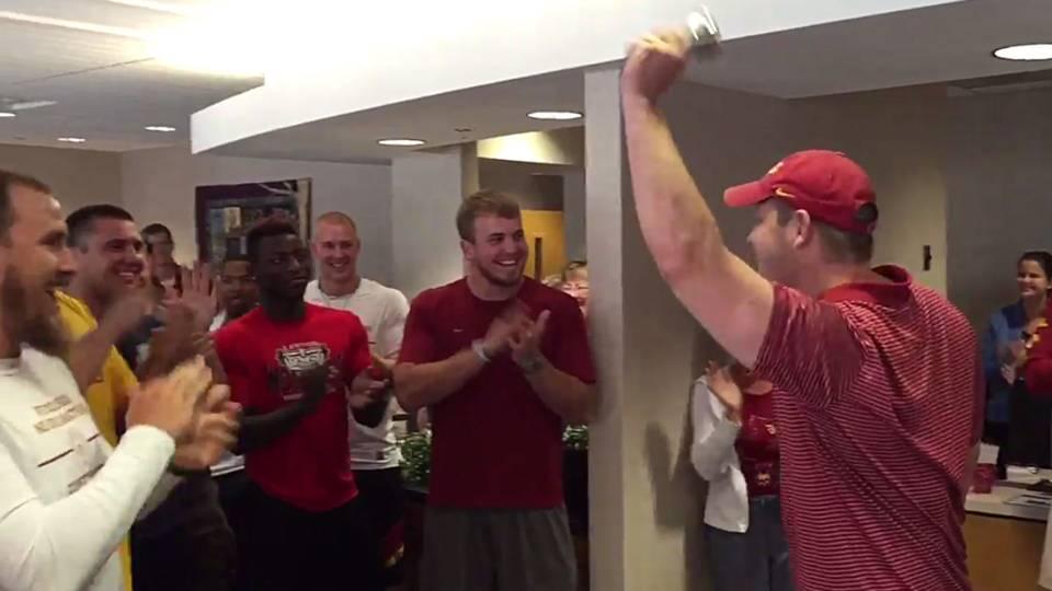 Mitchell Meyers and Iowa State teammates
