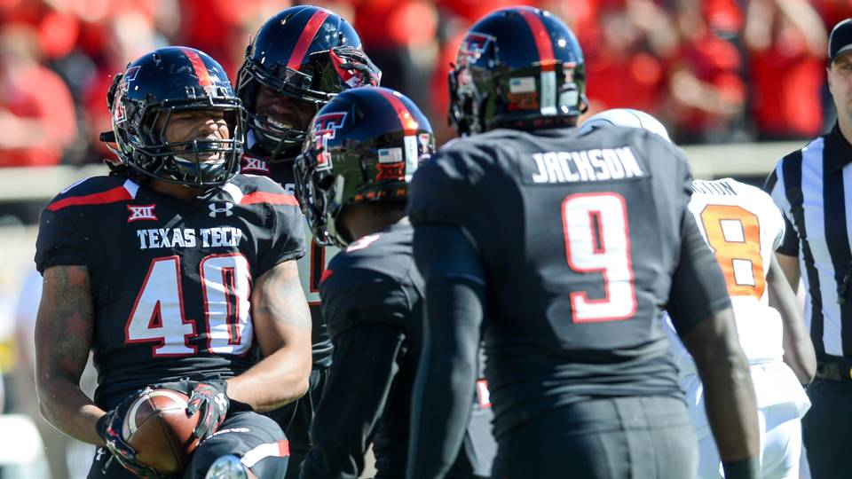 Dakota Allen (40) will return for his senior year at Texas Tech.
