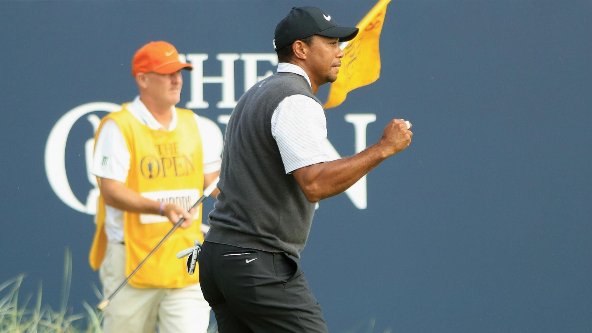 British Open 2018: Tiger Woods sets clubhouse target; Kevin Kisner edges back in front