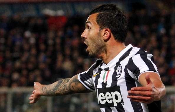 Con un gol de Tevez, Juventus venció 1-0 a Catania y acaricia el título