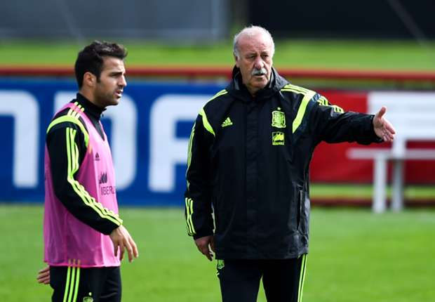 Del Bosque denies Fabregas training ground bust-up