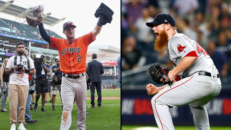 Alex Bregman (left) and Craig Kimbrel (right)