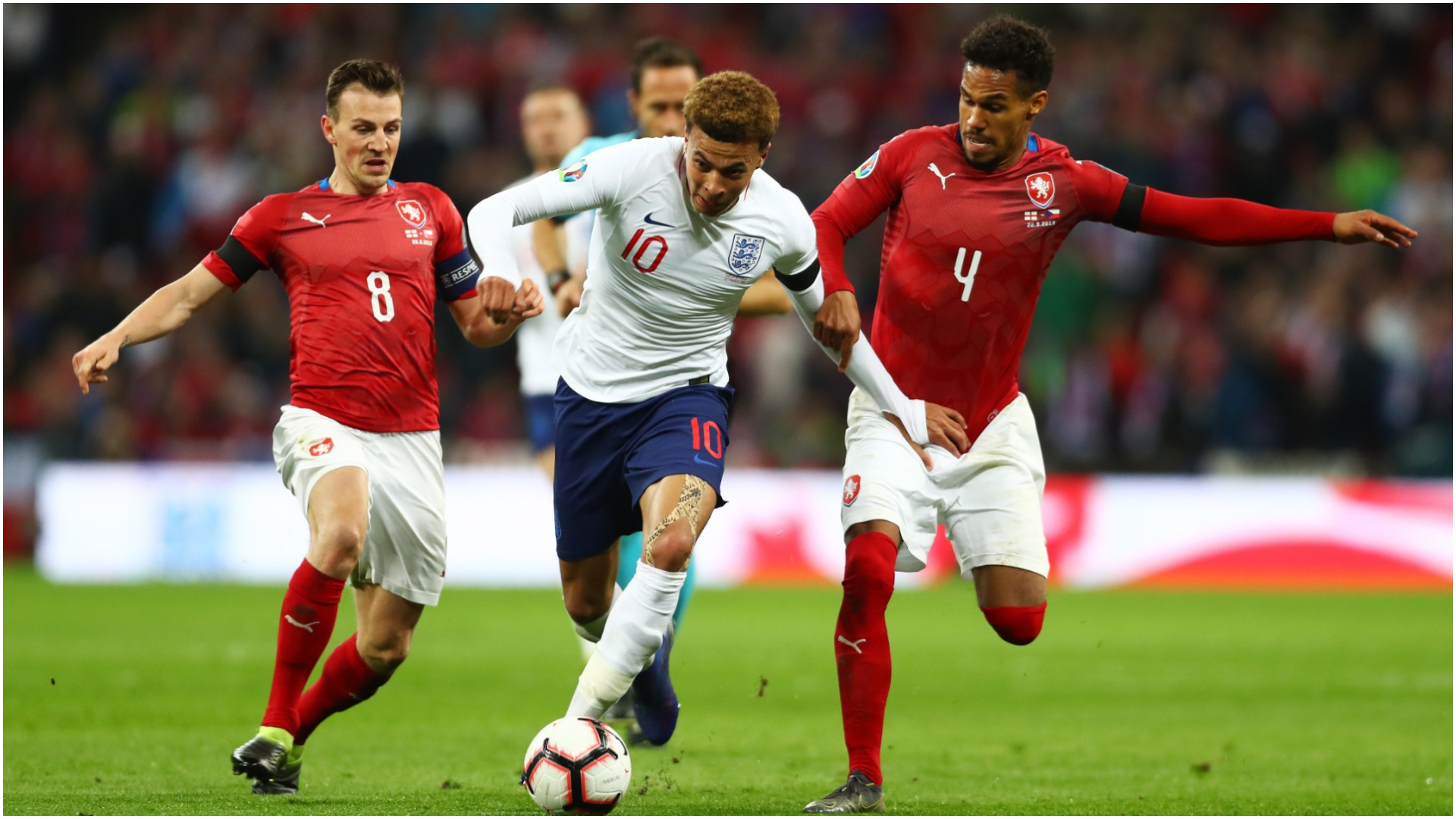 Dele Alli in action against the Czech Republic