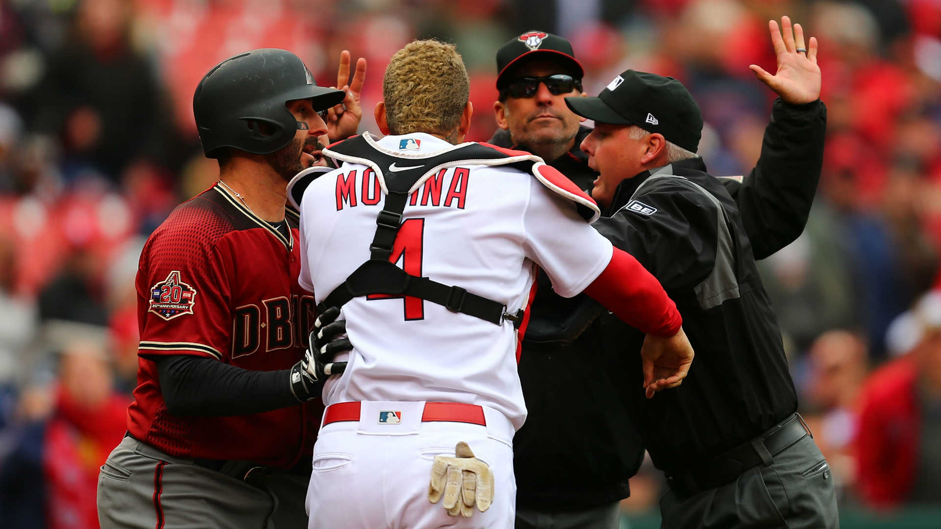Yadier Molina explains why he went after Torey Lovullo