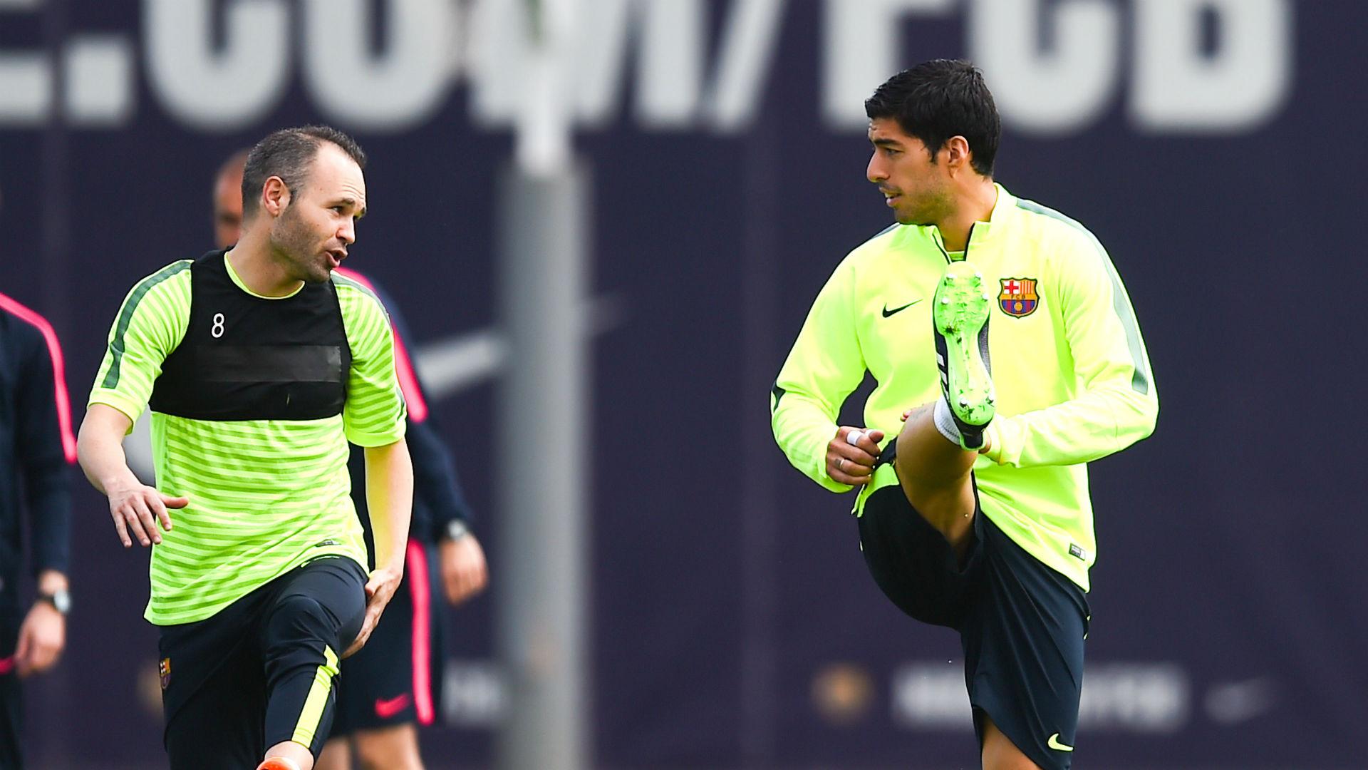 Iniesta Messi  Suarez