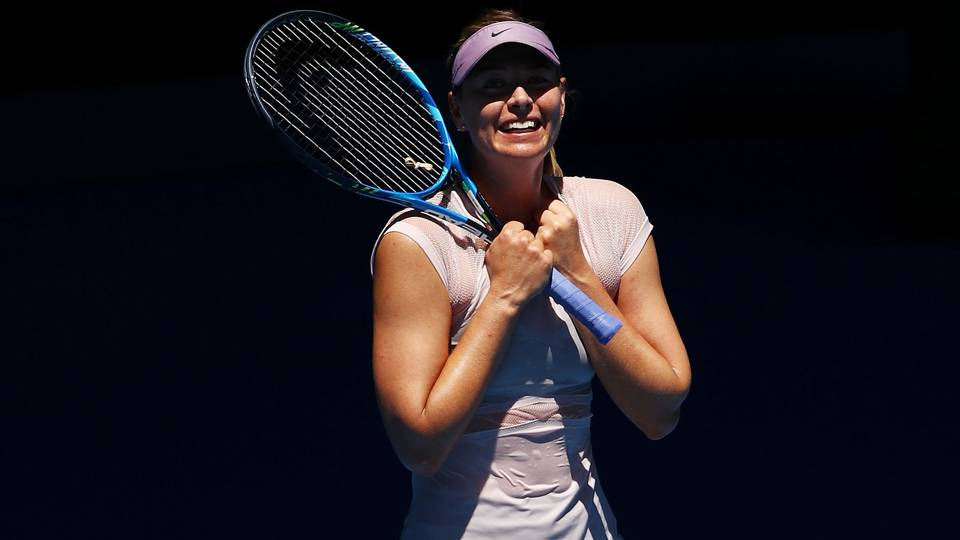 Australian open 2018 maria sharapova happy with aggression in mariasharapova cropped stopboris Images
