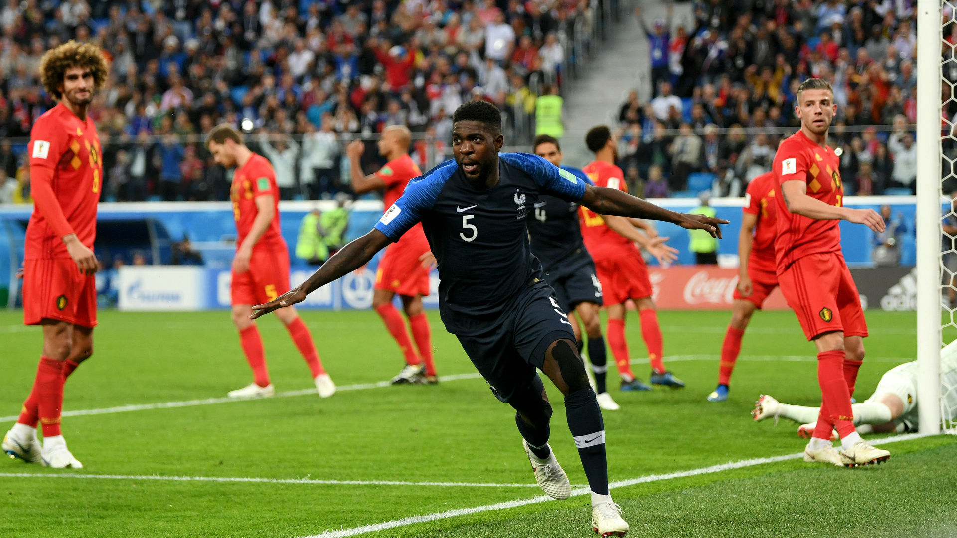 Umtiti header sends streetwise France into World Cup final