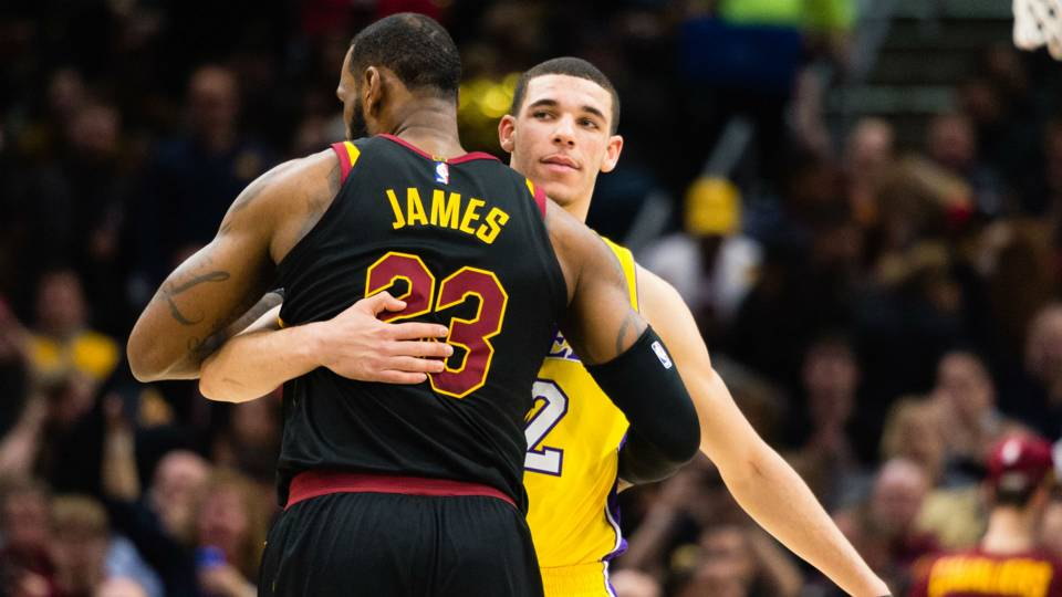 Lonzo Ball says playing with LeBron James is like playing anybody: 'He not God'
