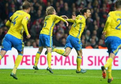Denmark 2-2 Sweden (3-4 Agg.): Ibra inspires