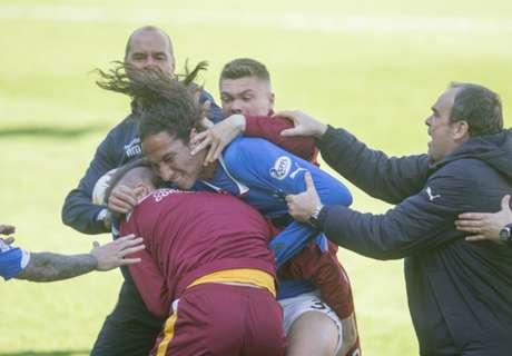 Scottish play-off brawl on police radar