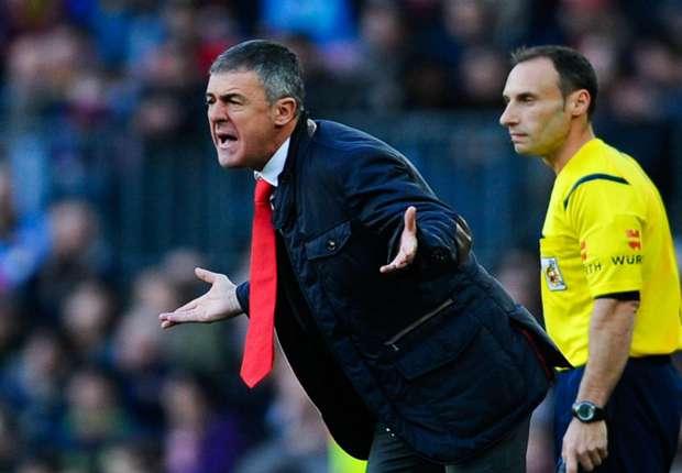 Levante coach Lucas Alcaraz